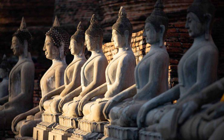 sitting-buddha-statues-at-wat-yai-chai-mongkhon-GTD695P.jpg